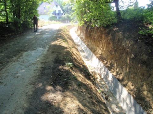 Csapadékvíz pályázat - az építés folyamata